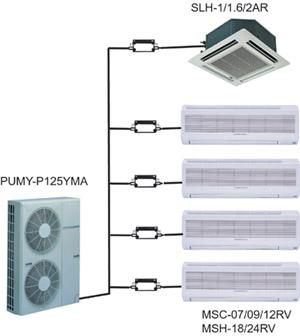 Система Сити Мульти на базе PUMY-P125YMA